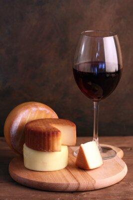 Poster Vinho e queijo