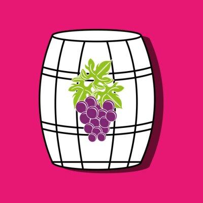 Poster Vinho ícone design