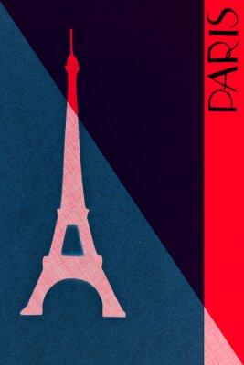 Poster Vintage, Paris, postal, caligrafia, hand-lettered, desenho, elemen