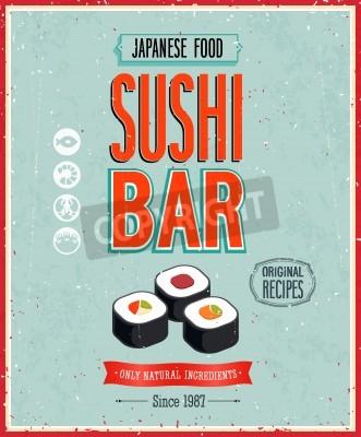 Poster Vintage Posters Sushi Bar.
