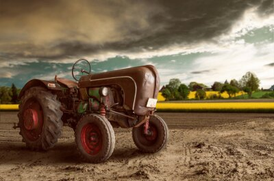 Poster Vintage Tractor