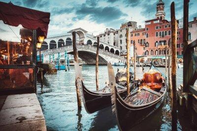 Poster Visão clássica da ponte de Rialto - Veneza