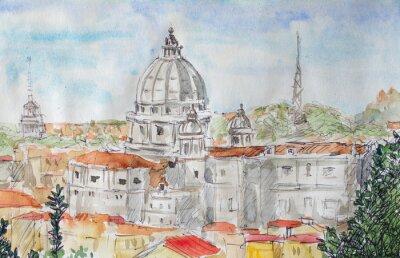 Poster Visão geral de Roma