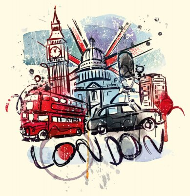 Poster Visite Londres
