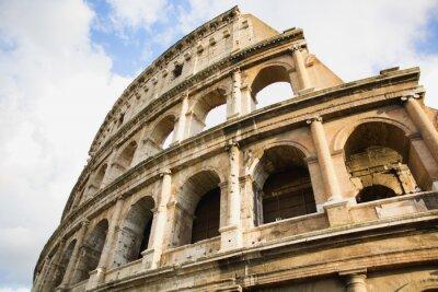 Poster Vista do Coliseu, em Roma, Itália, durante o dia