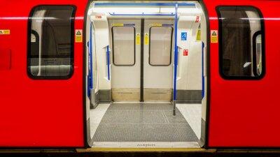 Poster Vista interna do London Underground, Estação de Metro