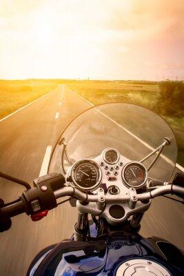 Poster Vista Motociclista