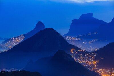 Poster Vista noturna do Rio de Janeiro