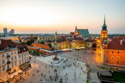 Poster Vista superior da cidade velha em Varsóvia