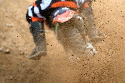 Poster Voando, debris, motocross, sujeira, pista