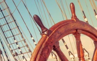 Poster Volante do navio à vela de idade