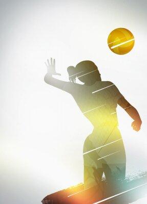 Poster Voleibol design plano de fundo
