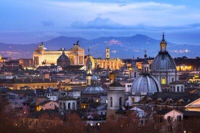 Poster Vue des toits de Roma