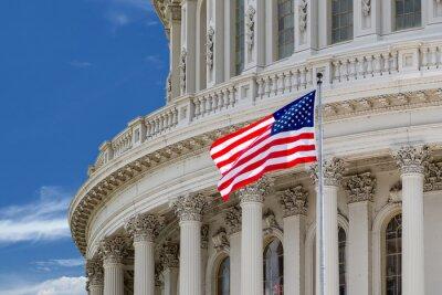 Poster Washington, DC, Capitol, detalhe, nublado, céu