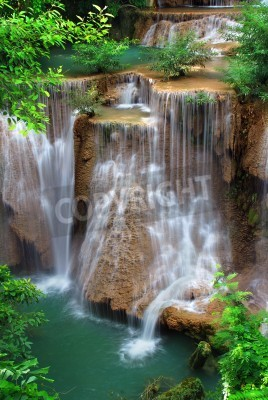 Poster waterfall in thai national park