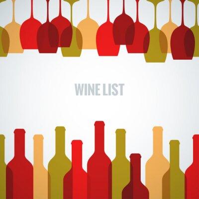 Poster wine glass bottle art background