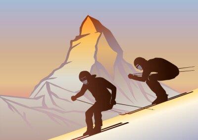 Poster Kayakçılar ve Matterhorn