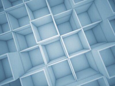 Quadro 3d cubo de fundo abstrato