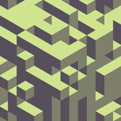 Quadro 3d geométrico colorido fundo abstrato.