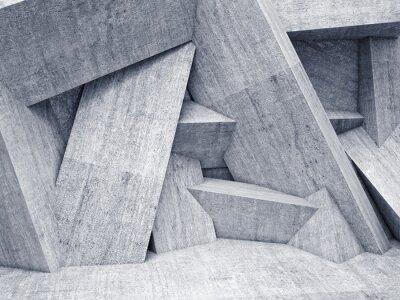 Quadro 3d parede geométrica