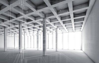 Quadro 3D, vazio, Interior, fio, Quadro, efeito