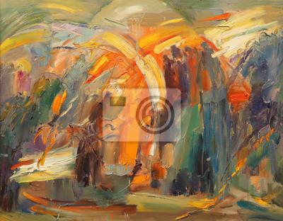 Quadro A arte de abstração