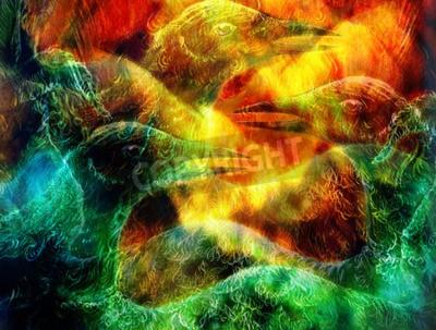 Quadro A colagem do pássaro de phoenix