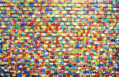 Quadro A cor do fundo de grafite de rua em uma parede de tijolos