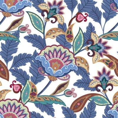 Quadro A fantasia floresce o teste padrão sem emenda de paisley. Ornamento floral, para o tecido, embrulho, papel de parede