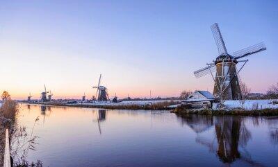 Quadro A manhã do inverno nos Países Baixos