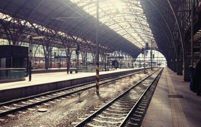 Quadro A principal estação ferroviária em Praga, República Checa.