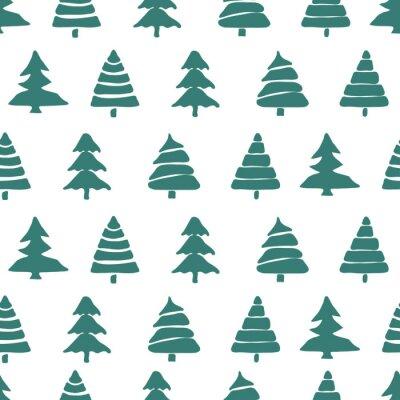 Quadro Abeto, árvore, seamless, Padrão