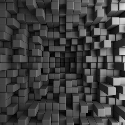 Quadro Abstract 3D Cubes Blocos Wallpaper Background