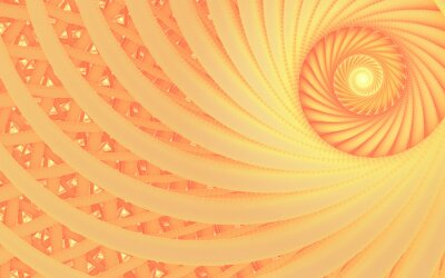 Quadro Abstract fantasy swirl tunnel with tender peach lines