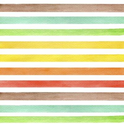 Quadro Abstract grunge seamless pattern. Tiras no fundo branco.