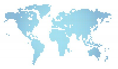 Quadro Abstract vector illustration of a dotted worldmap