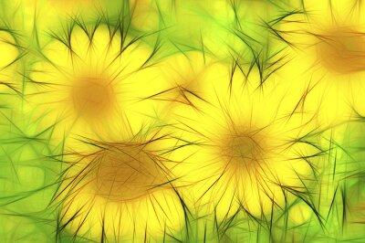 Quadro abstrakte gelbe moderne Ilustração Sonnenblumen