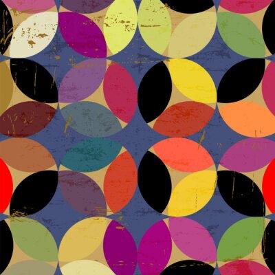 Quadro abstrato padrão circular