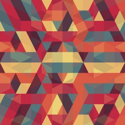 Quadro abstrato retro padrão geométrico