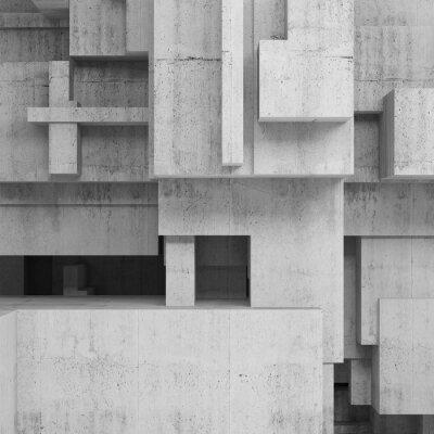 Quadro Abstratos, concreto, estruturas, quadrado, fundo
