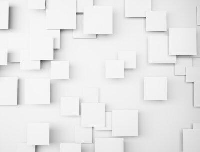 Quadro Abstratos, geométrico, FORMA, 3D, branca, cubos