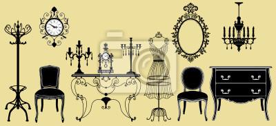 Quadro acervo original mobiliário antigo