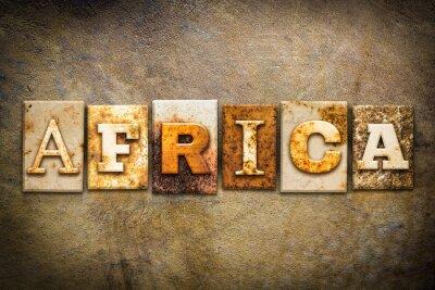 Quadro África Conceito tipografia Couro Tema