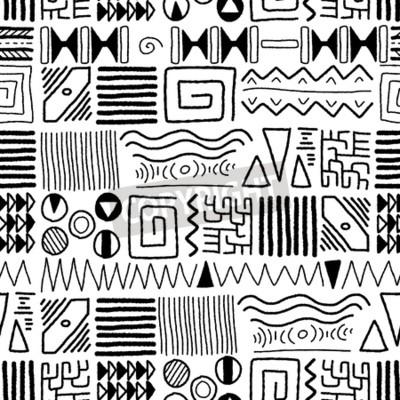 Quadro Africano padrão étnico - fundo de arte indígena. Projeto do estilo de África.