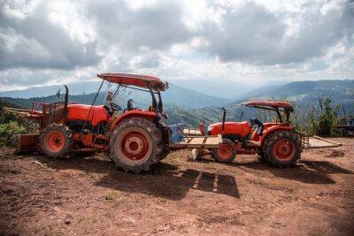 Quadro Agricultor, trator, semeadura, colheitas
