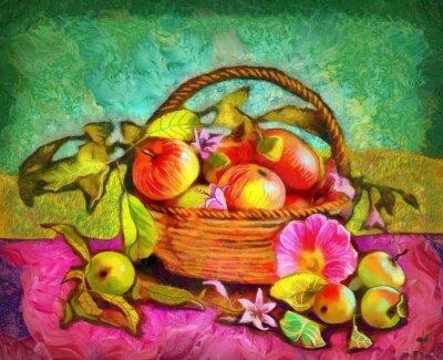 Quadro Ainda, vida, maçãs