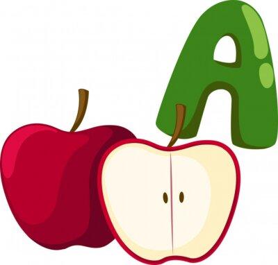 Quadro alfabeto A para a maçã
