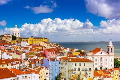 Quadro Alfama Lisbon Cityscape