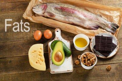Quadro Alimentos ricos em gordura que são saudáveis