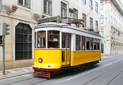 Quadro Amarela bonde Lisbon Old, Portugal